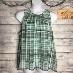 Vince Camuto Plaid Sleeveless Blouse Size XXL